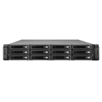 QNAP REXP-1210U-RP disk array 48 TB Rack (2U) Black,Grey