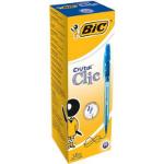 BIC Cristal Clic Blue Clip-on retractable ballpoint pen Medium 20 pc(s)