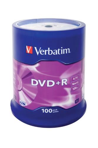 Verbatim DVD+R Matt Silver 4.7 GB 100 pc(s)