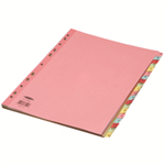 Concord Subject Dividers 160gsm Reinforced A-Z A4 Assorted Ref 77299/72
