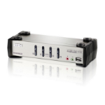 ATEN 4 Port USB VGA KVMP Switch with Audio, OSD and USB 2.0 Hub - Cables Included