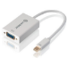 ALOGIC Premium 15cm Mini DisplayPort to VGA Adapter - Male to Female - WHITE