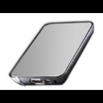 "MicroStorage SCB2A8 2.5"" USB powered Metallic,Silver HDD/SSD enclosure"
