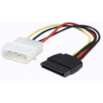 Manhattan SATA Power Cable, 4 Pin to 15 Pin, 16cm, Polybag