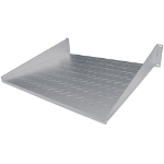 "Intellinet 19"" Cantilever Shelf, 2U, 2-Point Front Mount, 400mm Depth, Vented, Grey"