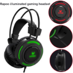 RAPOO VH200 Illuminated RGB Glow Gaming Headsets Black - 16m Colour Breathing Light Hidden Noise-Cancelling
