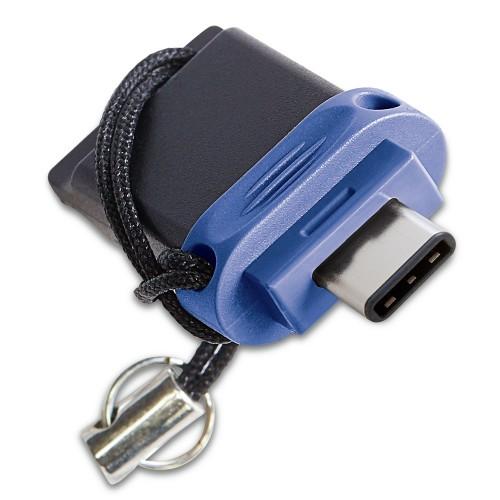 Verbatim Dual - USB 3.0 Drive 32 GB - USB-C / USB-A - Blue