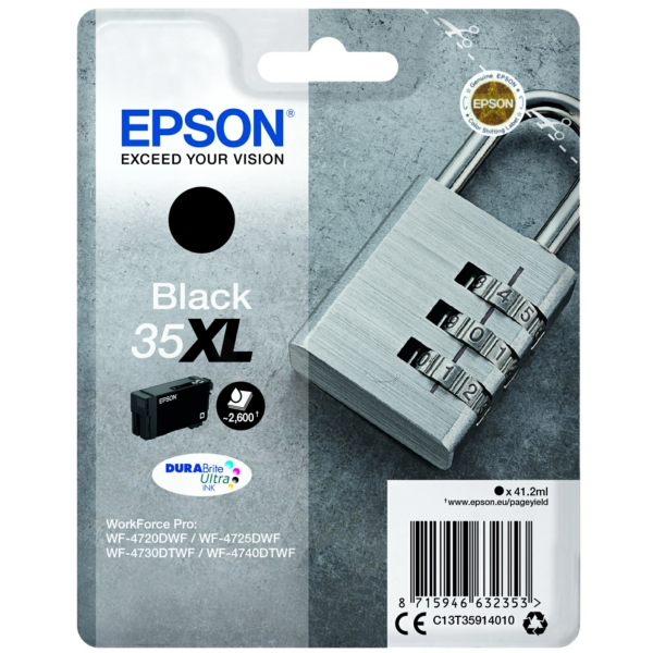 Epson C13T35914010 (35XL) Ink cartridge black, 2.6K pages, 41ml