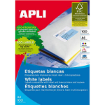 APLI 2419 LABELS A4 14UP ROUND CORNERS 99.1X38.1 100 SHEETS