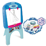 DISNEY Frozen My First Foldable Easel with 30pcs Creative Colouring Set, Blue (CFRO005)
