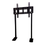 "Genee World GT-HFRAME+ 84"" Fixed Black flat panel floorstand"