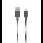 Native Union NCABLE-L-ZEB-V2 lightning cable 3 m Black,White