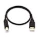 V7 USB-A (macho) a USB-B (macho) de 0,5 m - Color negro