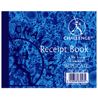 Challenge Duplicate Book Gummed Sheets Carbon Receipt 2-to-View 100 Sets 105x130mm Ref 100080444 [Pa