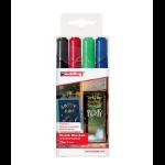 Edding 4095 chalk marker Bullet Black, Blue, Green, Red 4 pc(s)