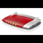 AVM FRITZ!Box 5490 draadloze router Dual-band (2.4 GHz / 5 GHz) Gigabit Ethernet Grijs, Rood