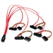 StarTech.com Cable de 50cm SAS Serial Attached SCSI SFF 8087 a 4x SATA Datos y Corriente Alimentación - Rojo