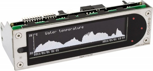 Aqua Computer aquaero 5 XT 10channels LCD Black,Grey fan speed controller