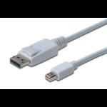 Digitus AK-340102-010-W 1 m Mini DisplayPort DisplayPort White