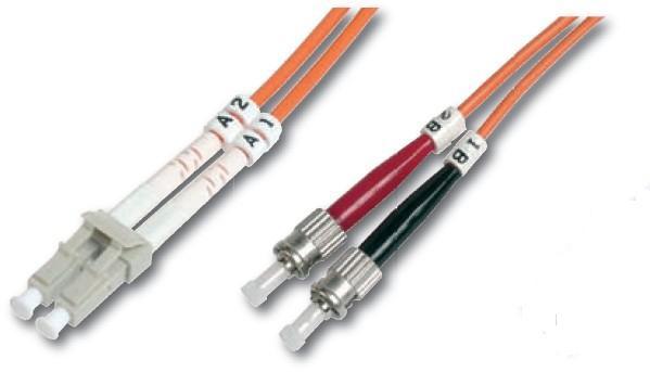 Digitus DK-2631-03 3m LC ST/BFOC Orange fiber optic cable