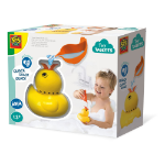 SES Creative Children's Tiny Talents Quack Quack Duck Bath Toy with Sounds, Unisex, 3 Years or Above, Yellow (130