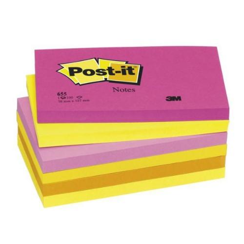 Post-It 655 TF self-adhesive label Multicolour 6 pc(s)