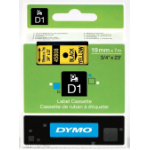 DYMO D1 Standard - Black on Yellow - 19mm label-making tape
