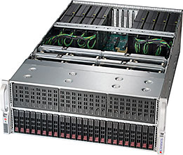 Supermicro SYS-4029GP-TRT server barebone Intel C622 LGA 3647 Rack (4U) Black