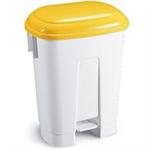 FSMISC 60 LTR PLASTIC BIN WHITE/YLLW 348018014
