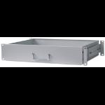 """Intellinet 19"""" Drawer Shelf, 2U, Shelf Depth 350mm, Grey"""