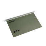 Rexel Multifile Foolscap Suspension File 15mm Green (50)