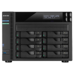 Asustor AS6208T storage server Ethernet LAN Black NAS