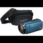 JVC GZ-R495 Blue 4GB Memory HD Quad Proof Camcorder inc Everio Case