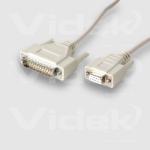 Videk DB9F to DB25M Serial 2Mtr printer cable 2 m Beige