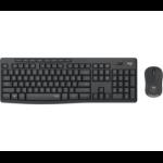 Logitech MK295 Silent Wireless Combo keyboard RF Wireless Greek Black