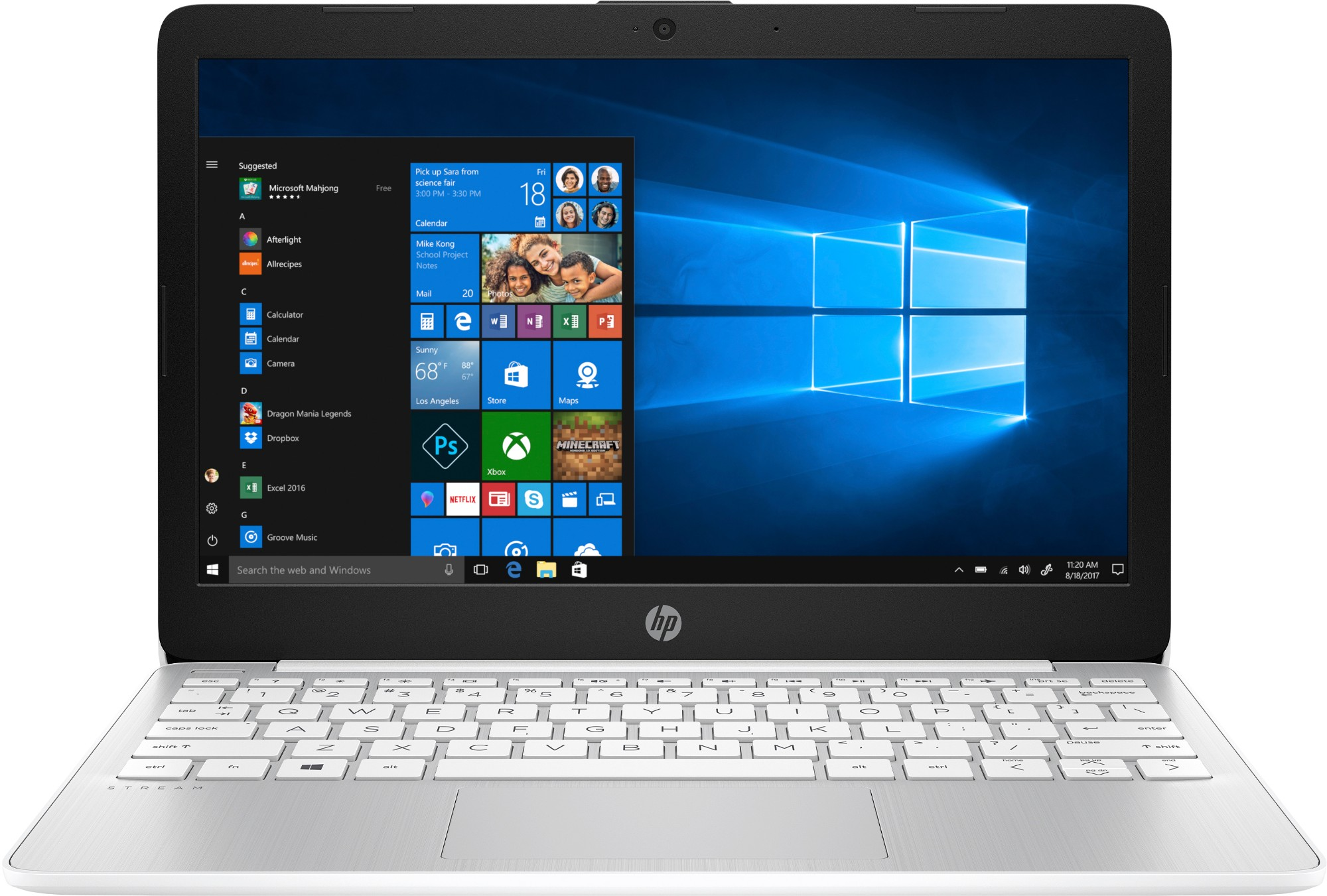"HP Stream 11-ak0002na Silver Notebook 29.5 cm (11.6"") 1366 x 768 pixels Intel® Celeron® N4000 2 GB DDR4-SDRAM 32 GB eMMC"