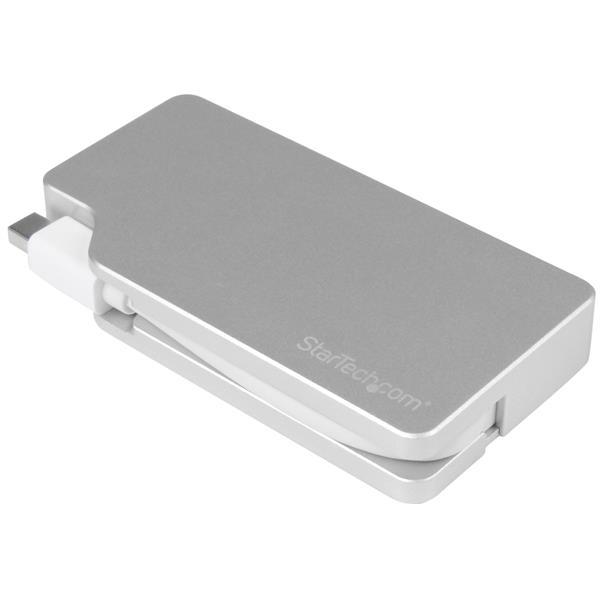 StarTech.com Aluminum Travel A/V Adapter: 3-in-1 Mini DisplayPort to VGA, DVI or HDMI - 4K