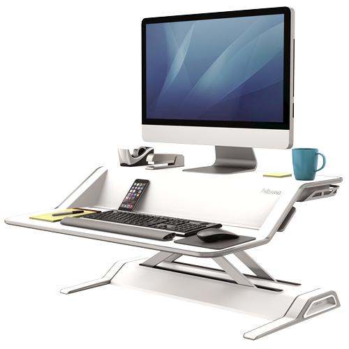 Lotus Sit-Stand Workstation - White.