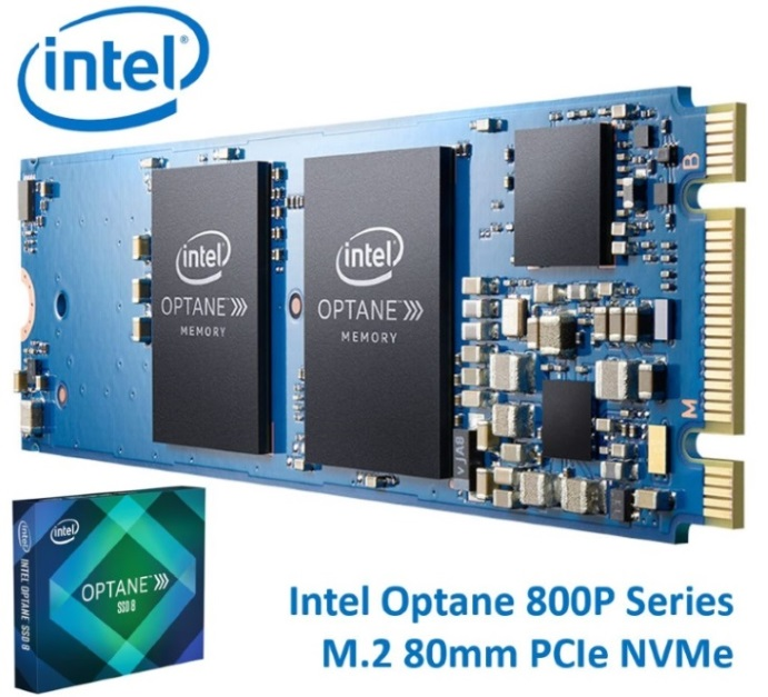 INTEL Optane SSD 800P M.2 80mm 118GB 3D XPoint PCIe NVMe 1450/640 MB/s 250K/145K IOPS 1.7 DWPD 1.6 Million