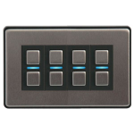 Lightwave L24 dimmers Smart dimmer Mountable Black,Stainless steel