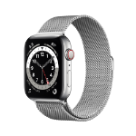 Apple Watch Series 6 OLED 44 mm Silver 4G GPS (satellite)