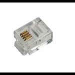 LogiLink RJ11 RJ11 Transparent wire connector