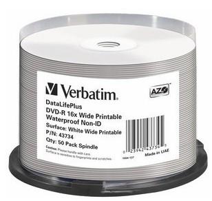 Verbatim DataLifePlus 4.7GB DVD-R 50pc(s)