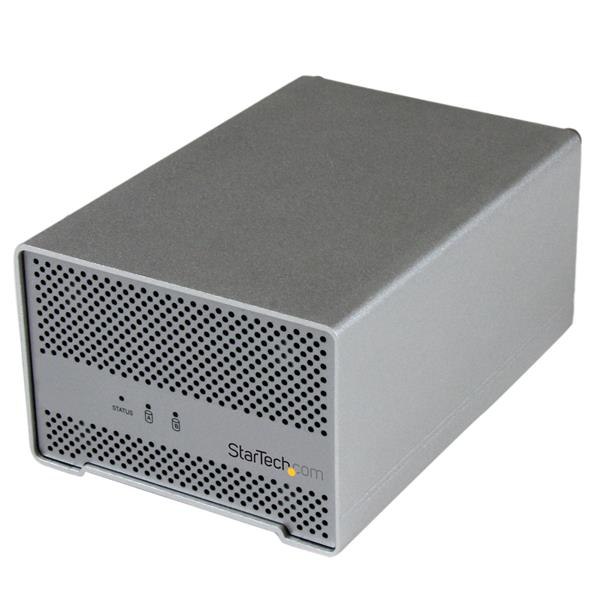 StarTech.com Dual-Bay Drive Enclosure for 2.5in SATA Drives - Thunderbolt