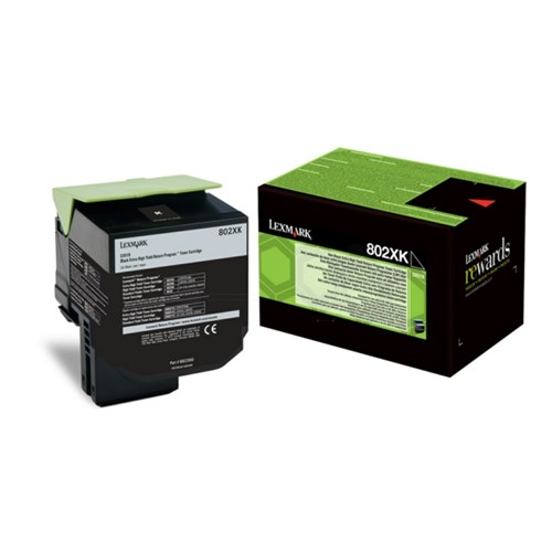 Lexmark 80C2XK0 (802XK) Toner black, 8K pages