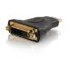 C2G Velocity Inline Adapter - Video adapter - HDMI / DVI - DVI-D (F) - 19 pin HDMI (M) - black