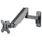 "Manhattan TV & Monitor Mount, Wall, Spring Arm, 1 screen, Screen Sizes: 17-32"", Black, VESA 75x75 to 100x100mm, Max 8kg, Height Adjustable Swivel Arm (3 pivots), Lifetime Warranty"