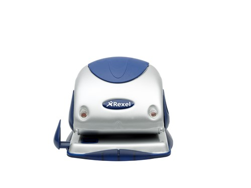 Rexel Precision 225 2 Hole Punch Silver/Blue
