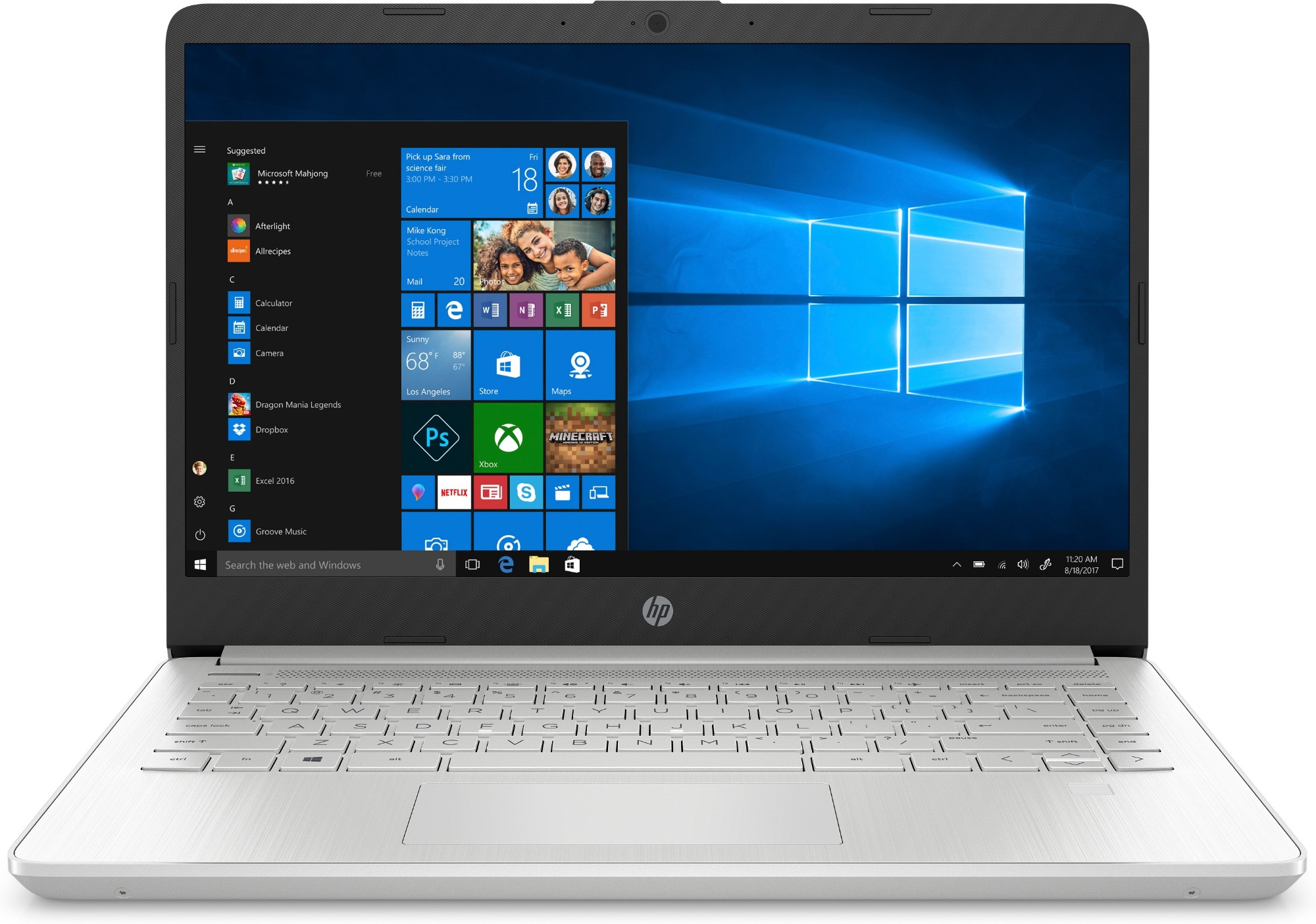 HP 14s-dq1008na Notebook Silver 35.6 cm (14