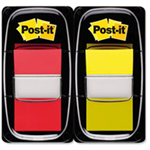 Post-It 1INCH INDEX DUAL PACK RED YELLOW